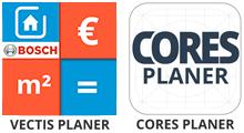 Logos VECTIS und CORES Planer Apps